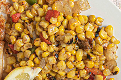 Fire Roasted Corn With Beans